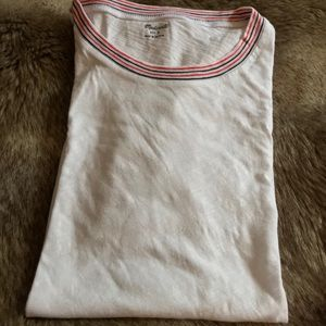 Madewell Whisper Cotton Ringer Tee in Optic White